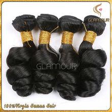 100% virgin human hair extension best selling long lasting loose wave peruvian hair