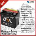 YTX5L-BS seco motocicleta cargada la batería SLA partida sin necesidad de mantenimiento
