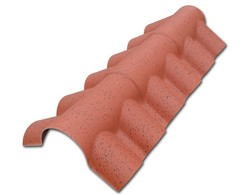 decorative PVC resin roof tile roma style top ridge