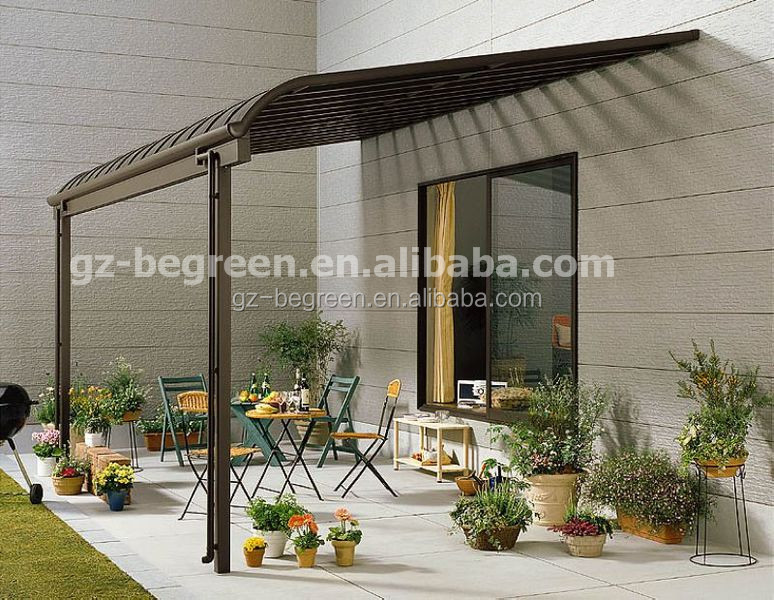 Aluminum hard top gazebo portable polycarbonate pergola - Pergola aluminium polycarbonate ...