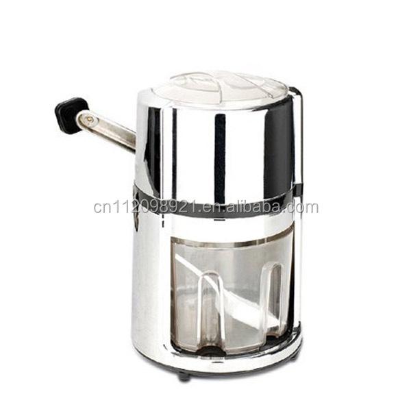 Hand Crank Blender ~ Electroplating hand crank ice crusher shaver snow drink