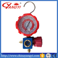 Yangyi High precision refrigerant manifold pressure gauge single gauge apply for CFC HCFC HFC with sight glass
