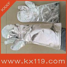 100% aluminizado tejidos anti incendios guantes venta( resistente 500 grado)