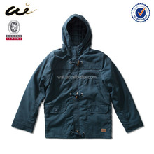 Button front yamaha winter jackets With hoody canvas winter ackets/coats