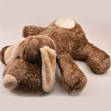 Lying down two different colors cute plush dog toy