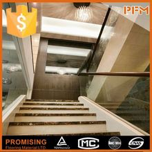 Luxury private villa project use natural stone flush overlap stair nose
