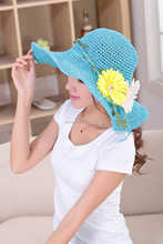 Popular and fashion 2015 new fashion fancy paper straw hat 2015 beautiful girl paper straw hat with bowknot