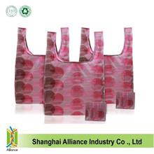 Full Printing Polyester T Shirt Shape Foldable Shopping Bag For Promotion Gift