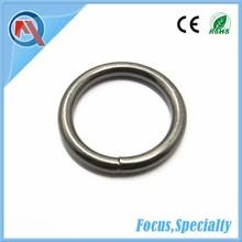 25mm Metal Round Ring Nickel-Free Black For Bags
