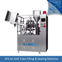skin whitening cream filling and sealing machine, cream tube sealer