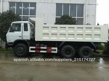 25000l dongfeng carro de descarga tamaño, 6x4 volquete camiones para la venta