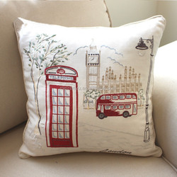 2015 new hot London embroidery design cushion cover