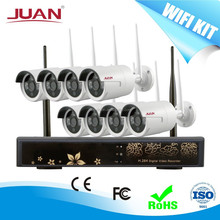 2.4Ghz Wireless Kit 8CH 960P NVR KIT Signal Range 300 Meters Across 4 Wall With Outdoor Camera