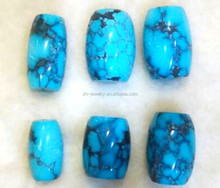 Super Top AAA High Quality Natural Arizona Turquoise Smooth Drum Shape Beads Wholesale Price
