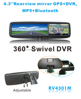 4.3 inch car rearview mirror DVR