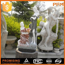hot sale natural well polished marble made hand carved four season sculpture for outdoor decoration
