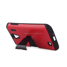 New Arrival 2015 hot sales Low MOQ TPU PC Kickstand Cell Mobile Phone Accessory for Samsung S4 Case