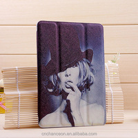 Universal Stand PU Leather case cover for Tablet PC with Printing for ipad air ipad mini CO-LTC-306