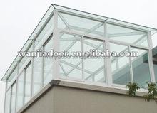 wanjia hot sell greenhouse or clear glass sunroom