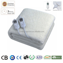 Double Controller Washable 120W King Size Automatic Heating Electric Wool Blanket