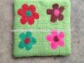 100% de fieltro de lana cojín/fieltro hecho a mano cojín de flores/la decoración del hogar