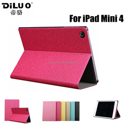 2015 new launched custom stand tablet cover for ipad mini 4 leather case