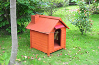 WOODEN DOG HOUSE WITH CHIMNEY ALS-6119