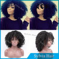 Wholesale Natural Black High Heat Resistant Fiber Japanese Kanekalon Synthetic Short Lace Front Wig For Black Women