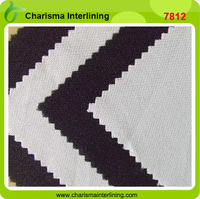 PA double dot coating polyester 100% polyester fabrics for man suit factory price polyester cotton woven fusible interlining