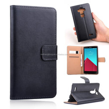 High quality genuine leather phone case flip wallet mobile phone cover for LG G3 mini
