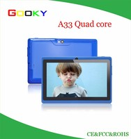 Cheapest price 7 inch Android Tablet in me A33 Quad core Tablet pc 2 years warranty