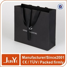 Decorate gift company logo matt laminated black bag paper