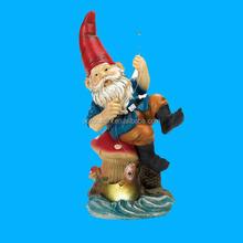 Garden or Yard Art Statue Fishing Polyresin Gnome Statue