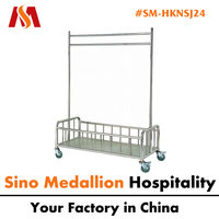 5 Star Hotel Stainless Steel Clothes Hanging Trolley