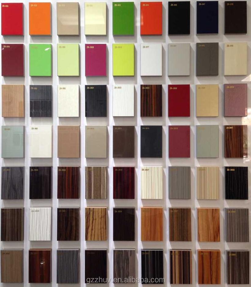 Alto brillo lcd mueble cocina insertos de vidrio, Diseño moderno ...