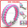 vogue different types of 550 paracord bracelet hot selling