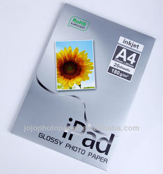 Supply Ipad180g A4 Best Photo Paper Quality Glossy Photo Paper