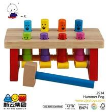 wooden Hammer Peg toys