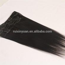 top quality wholesale heap 100% human hair clip in hair extension