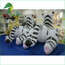 Inflatable White Tiger Cartoon With High Quality UV Printing