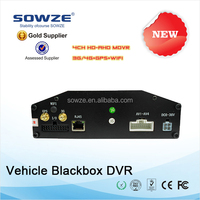 Bus CCTV System MDVR for Bus, Taxi, Police Car, Truck G-Sensor GPS WIFI 3G 4CH 1080P HD 4CH DVR System