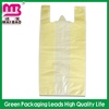 no pollution clear plastic tshirt bag for stationery