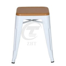 Metal Leisure Chair with Wood