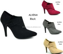 Good Quality Lady Bootie Single Heel Dress Shoes 2014 Last Design (ALVINA)