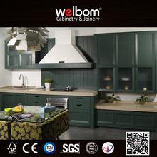 WELBOM Top Solid Wood Modular Kitchen Green Home Furniture