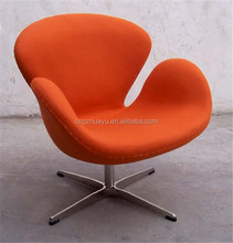 stainless steel and fabric reproduction swan chair mid century furniture