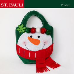 10inch factory Christmas ornament goodie bag Children's Portable Gift candy bags christmas
