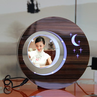 Suspending in the air magnetic levitation photo frame magic christmas gift