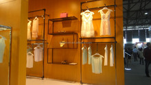 clothing shop t-shirt display rack and stands