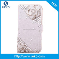 Bling Jewelry Diamond Gem Leather Smart Case Cover With Magnetic Flip Horizontals and card holder for Nokia Lumia 1520